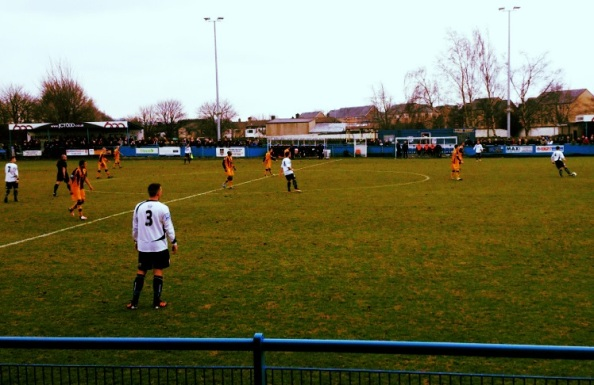 Guiseley took a 1-0 lead going into the half time interval