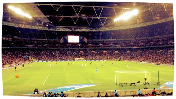 The Bradford end at Wembley during the game