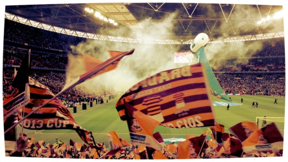 The Bradford end at Wembley