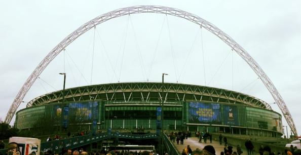 The final at Wembley Stadium