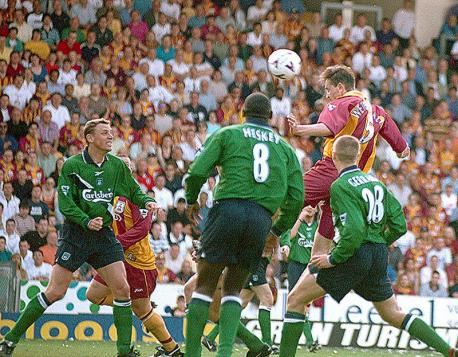 Wetherall's header against Liverpool on the final day of the season saved City from relegation
