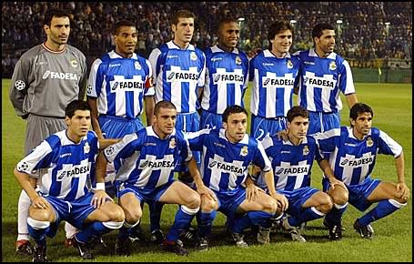 Deportivo Line Up In The Champions League