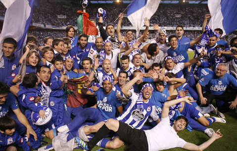 Deportivo celebrate their Segunda División title