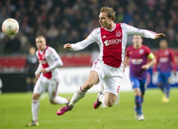 Christian Eriksen in action for Ajax