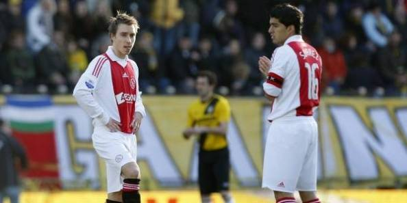 Ex team mates Eriksen & Suarez