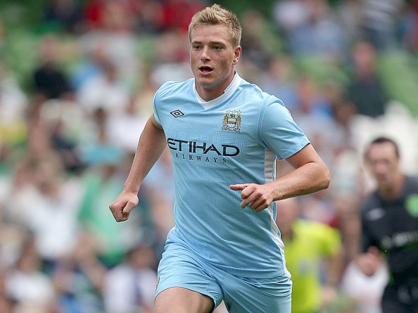 Guidetti in the sky blue of City