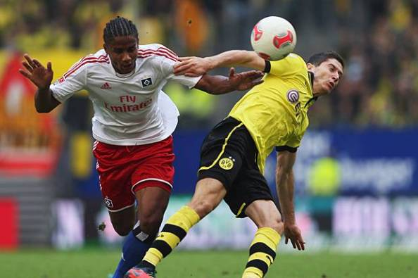 Mancienne's move to Hamburg has brought him face to face with Europe's elite strikers