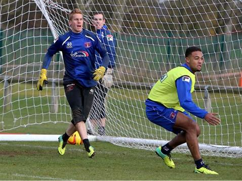 Meppen-Walter training with Carlisle United