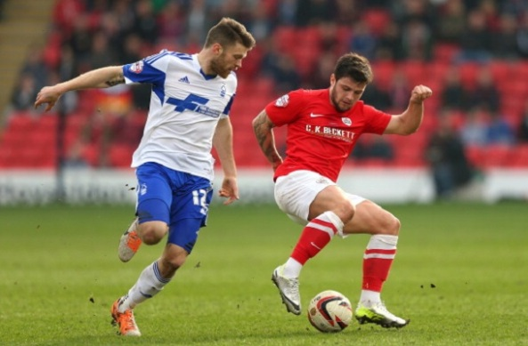 Dale Jennings in action for new club Barnsley