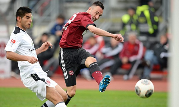 Josip Drmić in action against Eintracht Frankfurt