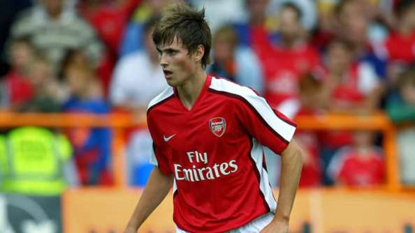 Nordveit during his time with Arsenal