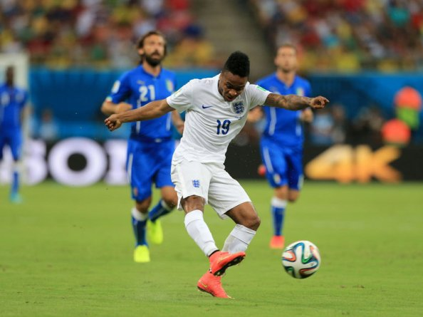 Raheem Sterling in action against Italy in England's Group D opener