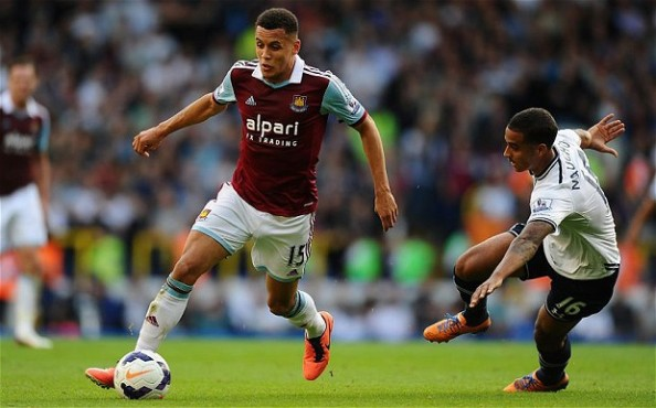 Ravel Morrison glides past the Tottenham defence