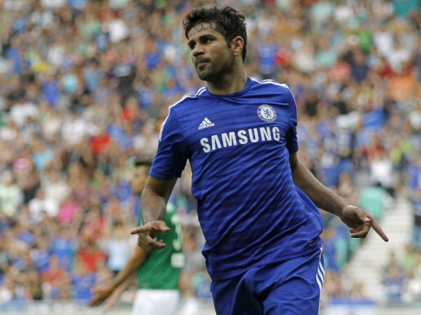 Chelsea's new. £32 million striker, Diego Costa