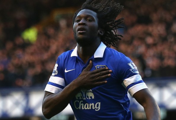 Everton smashed their transfer record to sign £28 million, Romelu Lukaku