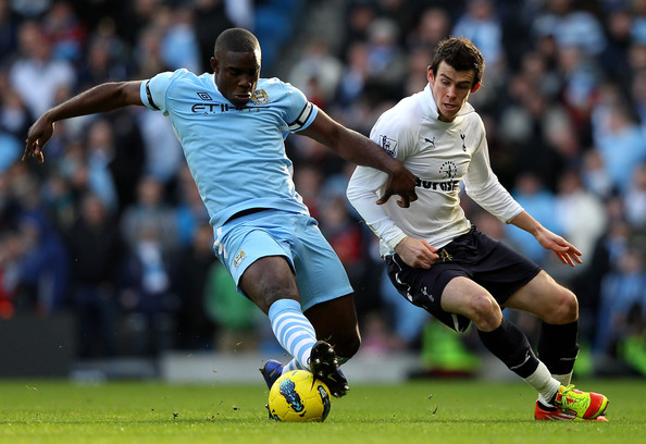 Richards captaining City against Tottenham