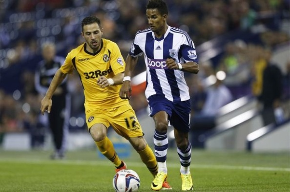 Sinclair during his uneventful spell at West Brom