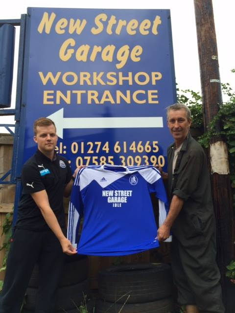 Idle FC's main kit sponsor, New Street Garage of Idle