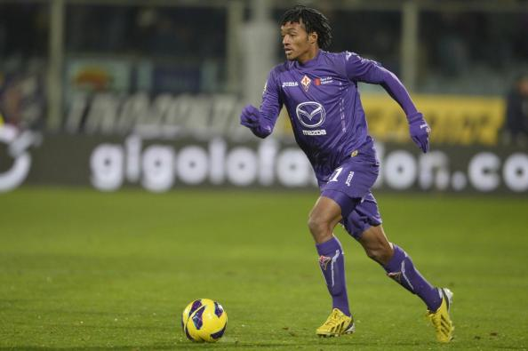 Juan Cuadrado in action for Fiorentina against Roma