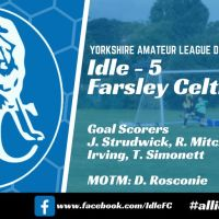 Match report: Idle FC 5 - 3 Farsley Celtic Juniors Reserves
