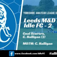 "Match report: Leeds M & D's III 0 - 2 Idle FC. ""Why's there a traffic cone for a corner flag?!"""
