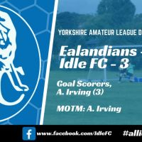 Match report: Ealandians FC Reserves 6 - 3 Idle FC. The unbeaten away record comes to an abrupt end...