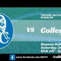 Match report: Idle FC 0 - 3 Collegians FC. Pathetic.